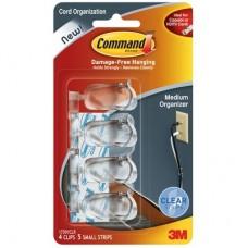 Command™ Clear Cord Clips - Medium