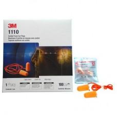 3M 1110 Foam Ear Plugs w/String 100's