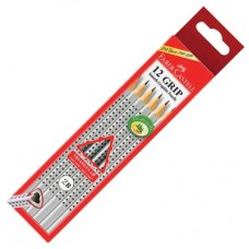 Faber-Castell 317002 Graphite Grip Pencils 2B (12's)