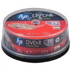 HP DVD-R 4.7GB 16x Spindle 25's