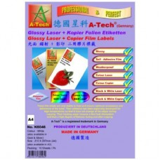 A-Tech K6050 Laser+Copier Label <Silver>  A4 (10's)