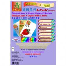 A-Tech K6048 Laser+Copier Label <Glossy Gold> A4 10's